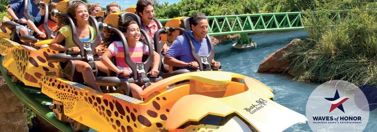 Seaworld parks military discount save 50 for Busch gardens veterans discount