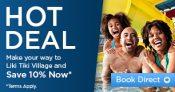 Liki Tiki Village Promo Code – 10% Off Best Rates