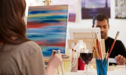 One-Hour Painting Lesson for One or Two People (Up to 55% Off)