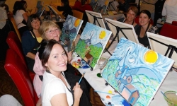 Wine and Painting Class for One or Two at Wine and Canvas Orlando (Up to 47% Off)