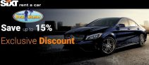 Sixt Rent a Car Exclusive Discount Promo – 15% Off Best Rate